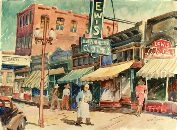 Center Street Provo, by Glen H. Turner, 1940